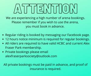 Arena Bookings